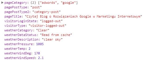 Warstwa danych dla strony kategorii blogowej