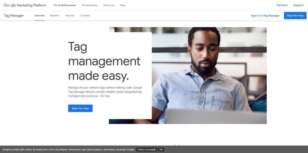 Tworzenie konta Google Tag Manager