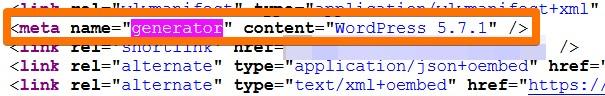 Wersja wordpressa w parametrze generator