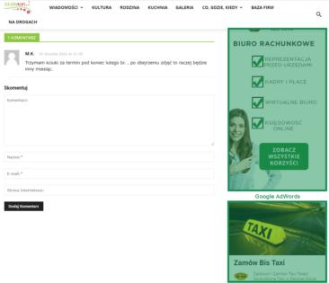 reklama na stronie zielonanews.pl
