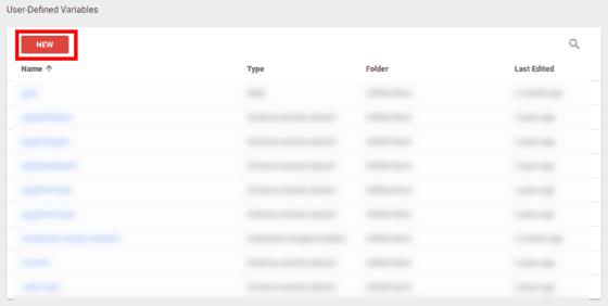Zmienne użytkownika w Google Tag Manager